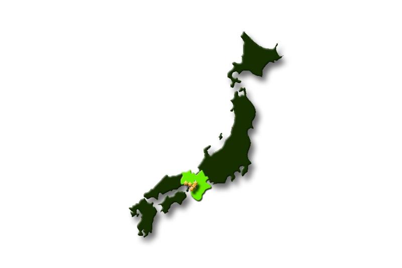 mapa kansai